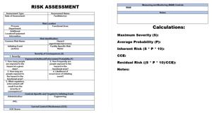 Risk assessment template image
